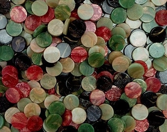 Resin mosaic tiles 10mm round, Marble effect, Colour mixes