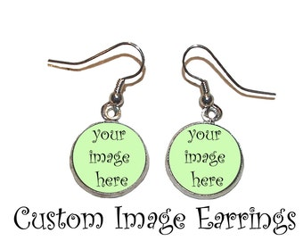 Custom Image Earrings - Made to Order