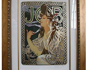 "6396 ""JOB"" Art Print by Alphonse Mucha"