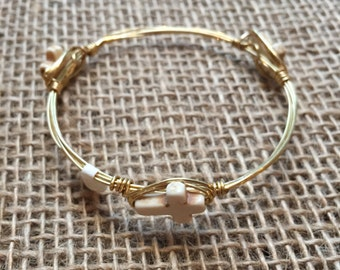 Mini cross bangle
