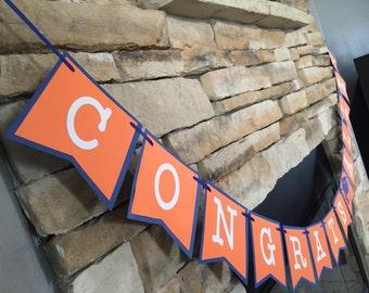 "GRADUATION BANNER ""congrats banner"" Congrats with custom name"