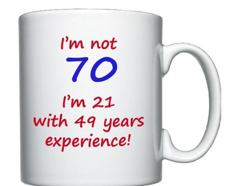 70th Birthday mug / cup.