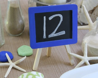 ANY COLOR: Easel Chalkboard - Wedding - Table Number - Table Centerpiece - Wedding Sign