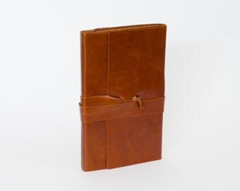 Hand crafted Moleskine notebook refillable cover