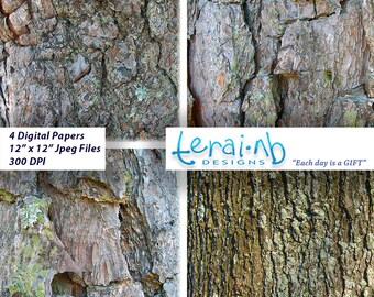 Tree Bark Paper. Tree Bark Texture Background Paper. Digital Download.Scrapbooking.Digital Paper Download.Arts and Crafts.Tree Bark