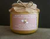 16 OZ Organic Candle Handmade with 100% unbleached beeswax, essential oils & organic hemp wick in a BPA-free jar