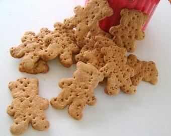 Honey Oat Bear Dog Biscuits Gourmet Dog Treats 1 lb.