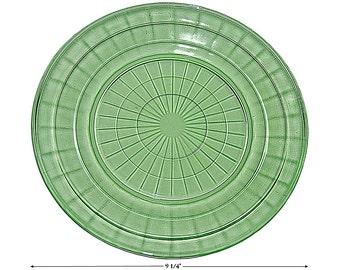 Hocking Block Optic Green Dinner Plate
