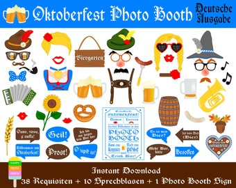 PRINTABLE Oktoberfest Foto Requisiten–Photo Booth Sign-Deutsche Bier Party Photo Booth Props-Bier Beer Photo Props-PDF-Instant Download