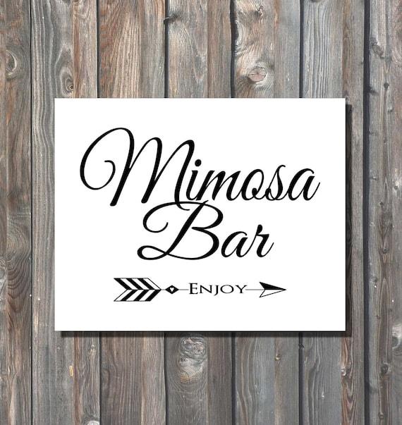 Items similar to printable wedding mimosa bar sign diy
