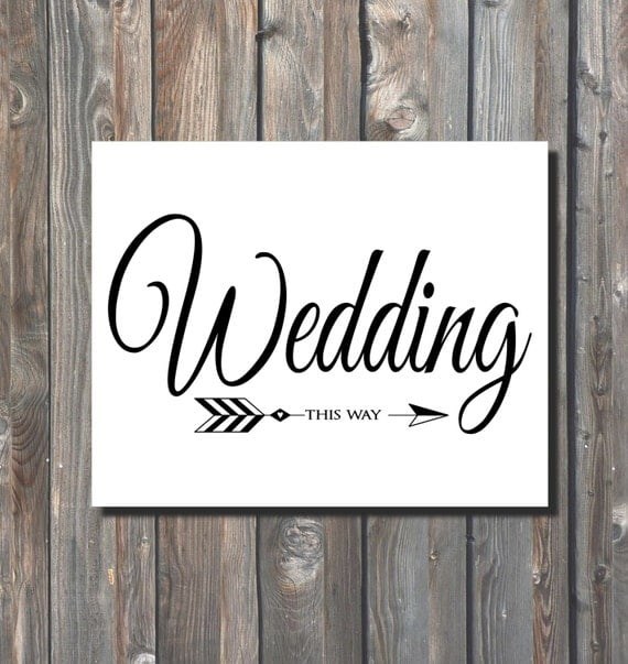 Selective image regarding printable wedding signage