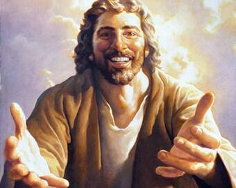 "Come Unto Me Wall Hanging/Jesus ""Come Unto Me"" Print/Giclee Jesus Print"