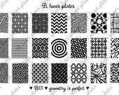 B.01 - geometry is perfect - nail stamping plates (B. Loves Plates)