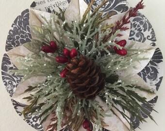 Pine cone floral ornament