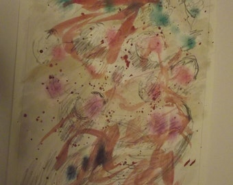 Transformations 7, original,  watercolor, painting