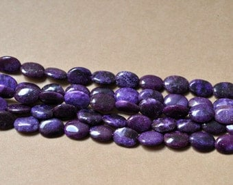Lepidolite Bead Oval 10x14mm Semiprecious Gemstone Bead Strand Wholesale Beads 15''L Jewelry Supply Wholesale Beads