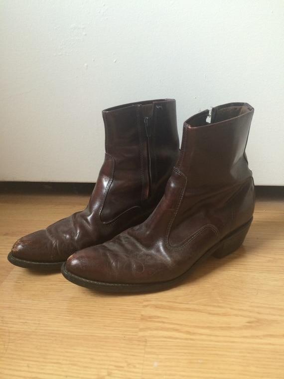 vintage s brown cowboy boots size 10