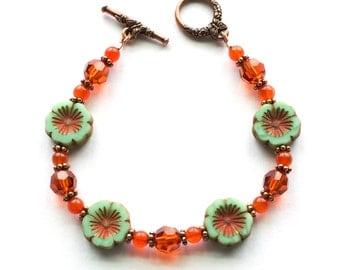 Flower Bracelet For Her | Flower Bracelet Gift For Women |  Summer Bracelet For Her | Pansy Flower Bracelet For Her | Solana Kai Designs