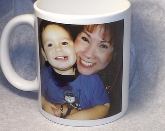Personalized Photo Mug, Gift Mug With Your Picture And Wording