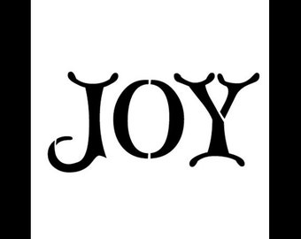 "Word Stencil - Joy - Christmas Card - 6"" x 6""- SKU:STCL615"