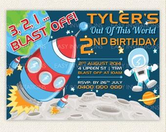 Space Birthday, Space Invitation, Space Birthday Party, Space Birthday Party Invitation, outer space birthday invitations, outer space party