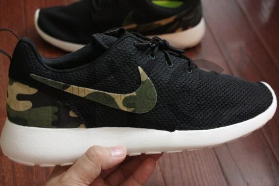 ad41227be519 delicate Nike Roshe Run Black White Army Camo Print Custom Men by NYCustoms