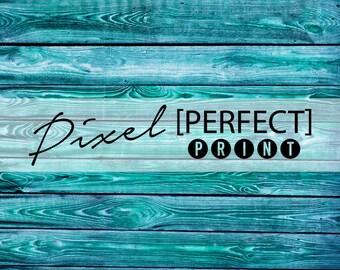 "6ft x 6ft ""Blurred Blue"" Vinyl Backdrop // Vinyl Backdrops // Vinyl Photography Wood Floordrop // Blue, Teal, Turquoise Floordrops (PP308)"