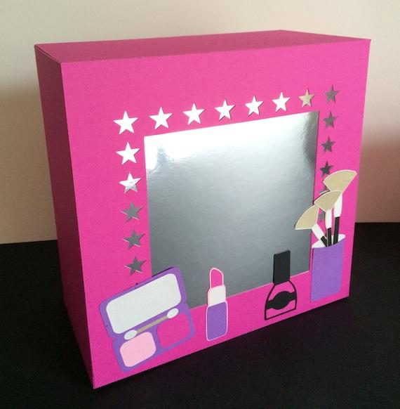 makeup and mirror light box gift box svg digital. Black Bedroom Furniture Sets. Home Design Ideas