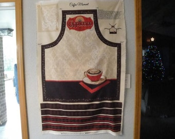 Coffee Moment Apron Panel by Wilmington Prints-Coffee-Cups-Apron-Cappucino