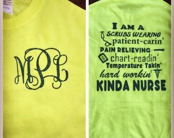 Monogrammed nursing shirt!