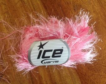 Pink long eyelash yarn ice yarn eyelash blend
