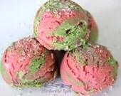 Watermelon Bubble Truffle Scoops - Bath Truffle - Bath Melt - Bubble Bath Bomb - Bubble Truffle - Bubble Scoop - Shower Gift - Wedding Favor