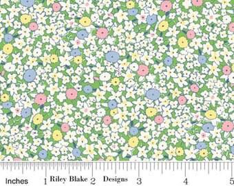 Penny Rose Fabrics 30's Minis Garden Green (Half metre)