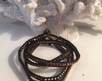Black and Copper Wrap