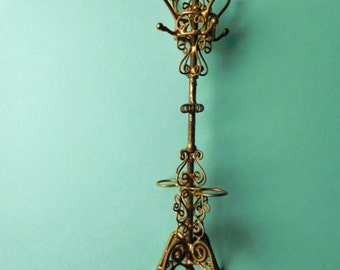 Dollhouse Miniature Scrolled Coat Rack and Umbrella Stand
