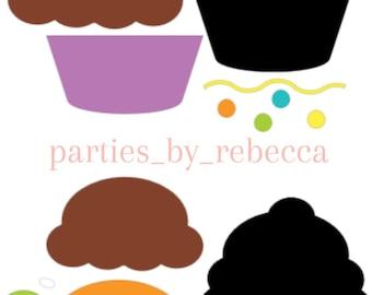 Birthday Cupcakes SVG Digital File