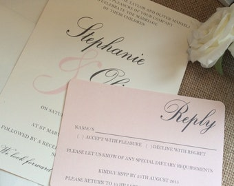 1 Rustic/Vintage/Shabby Chic 'Stephanie' Wedding Invitation + RSVP Sample