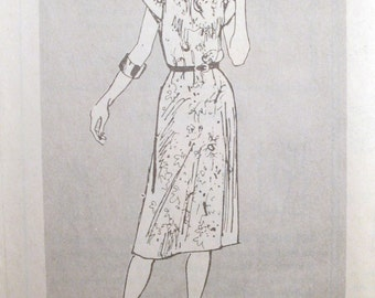 Vintage Sewing Pattern 4170 - Simple Dress - Misses sizes 16-18-20