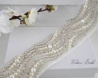 Bridal Sash Belt, Bridal Belt, Sash Belt, Wedding Dress Belt, Crystal Rhinestone Belt, Style 176