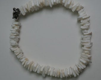 white coral anklet