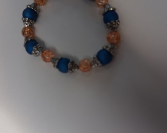 blue and orange bracelet