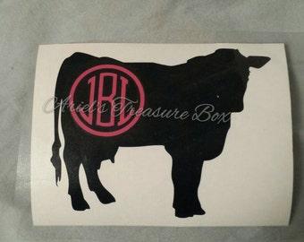 Custom cow decal