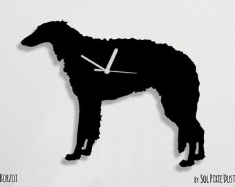 Borzoi Dog - Wall Clock