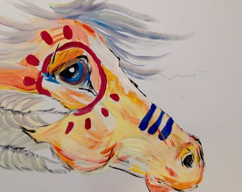 Original painting- Native American Horse