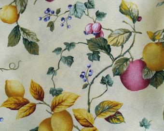 "Beautiful Eco Standard Quality Fruit Lemon Print Fabric 50x69cm (20""x27"")"