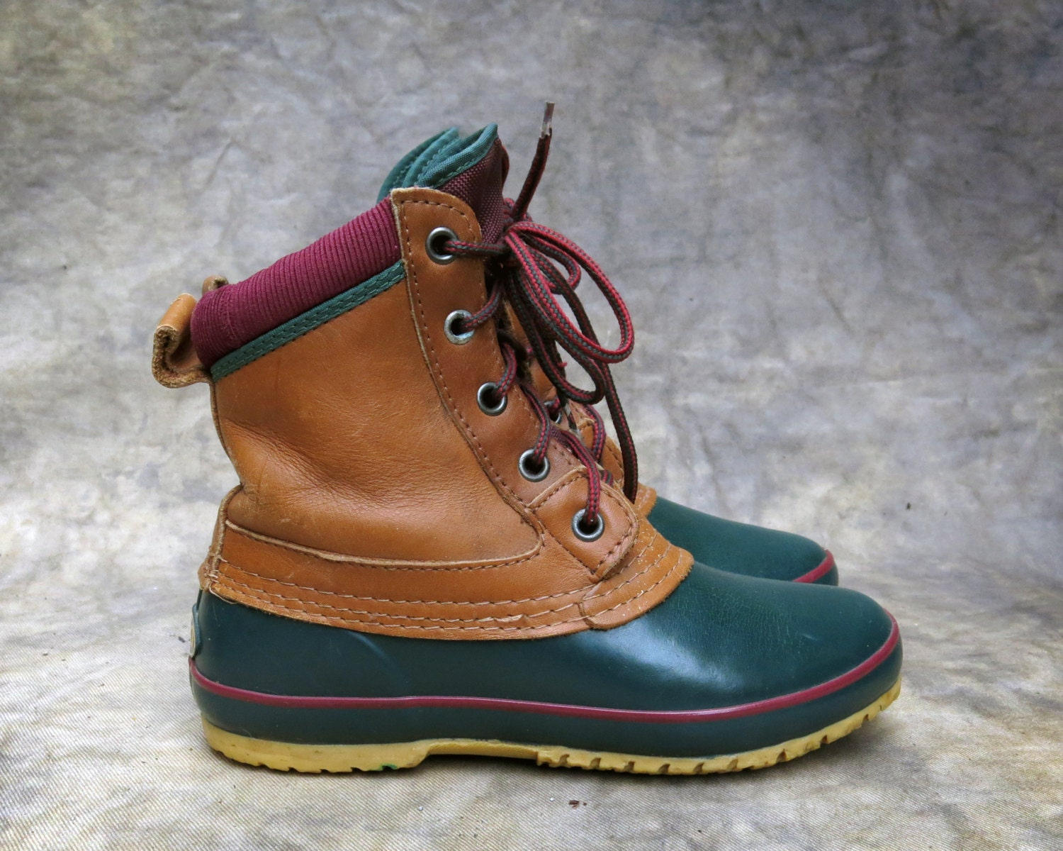 Fantastic Red EDDIE BAUER Duck Boots With Thinsulate By BuddyBuddyVintage