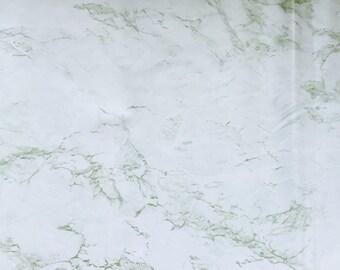 "Contact paper, wallpaper, green marble. Adhesive Shelf Liner, vinyl.18"" x 9'."