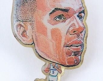 Jason Kidd Vintage Dallas Mavericks NBA Enamel Button Lapel Pin Pinback