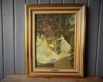 French vintage reproduction Monet, oil painting, master craftsman copy,'perfect replica'.