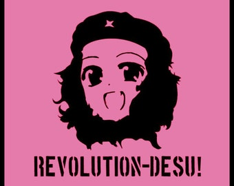 Manga Anime Girl Che Guevara Spoof  t shirt TSHIRT t-shirt